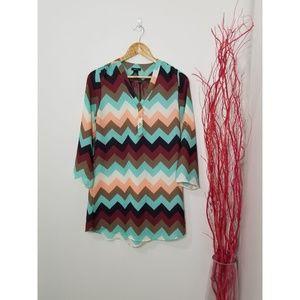 2/10$ 🎆Rue21 Button Long Sleeve Tunic Short Dress